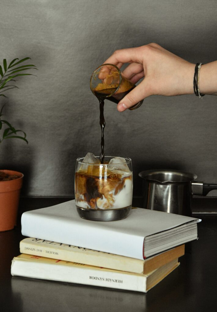 Eiskaffee zubereiten