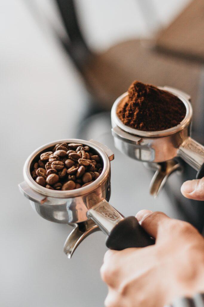 Kaffee mahlen für Siebträger